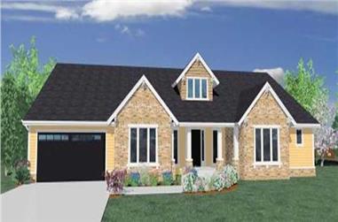 4-Bedroom, 3162 Sq Ft Ranch Home Plan - 149-1049 - Main Exterior
