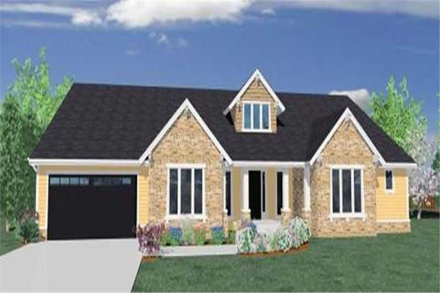 4-Bedroom, 3162 Sq Ft Ranch Home Plan - 149-1049 - Main Exterior