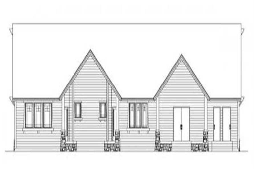 Home Plan Rear Elevation of this 4-Bedroom,3162 Sq Ft Plan -149-1049