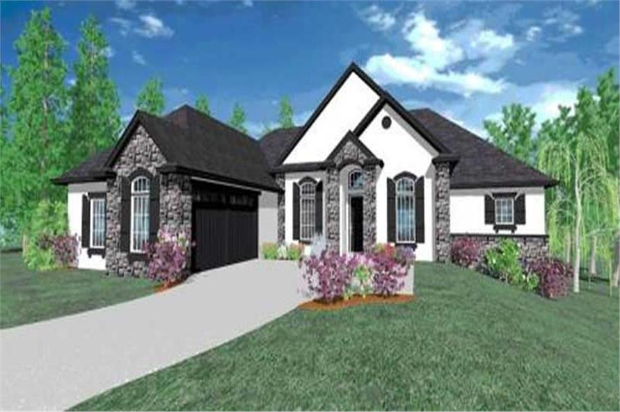 3-Bedroom, 2670 Sq Ft Country House Plan - 149-1050 - Front Exterior