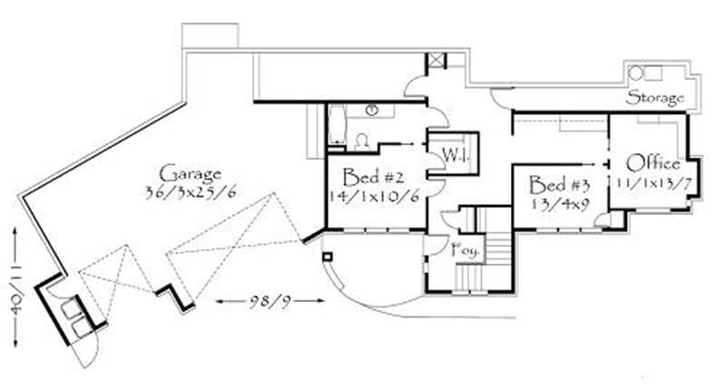 149-1051: Floor Plan - Lower Level - This image shows 2 bedrooms.