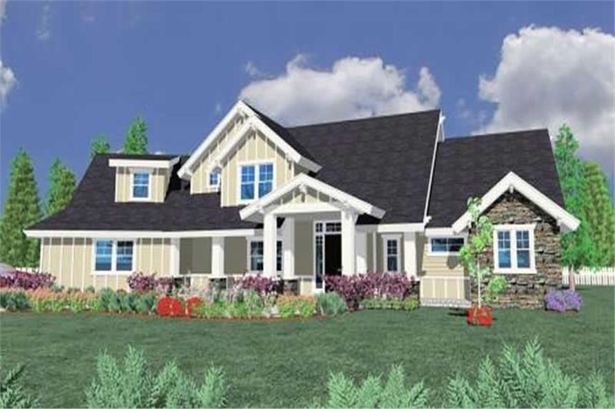 4-Bedroom, 3634 Sq Ft Ranch Home Plan - 149-1052 - Main Exterior