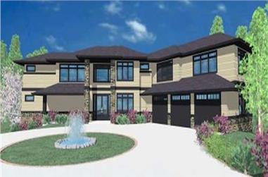 5-Bedroom, 5695 Sq Ft Contemporary House Plan - 149-1056 - Front Exterior