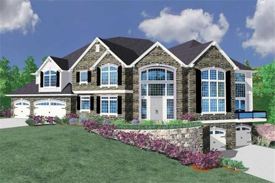 Front elevation of Country home (ThePlanCollection: House Plan #149-1057)