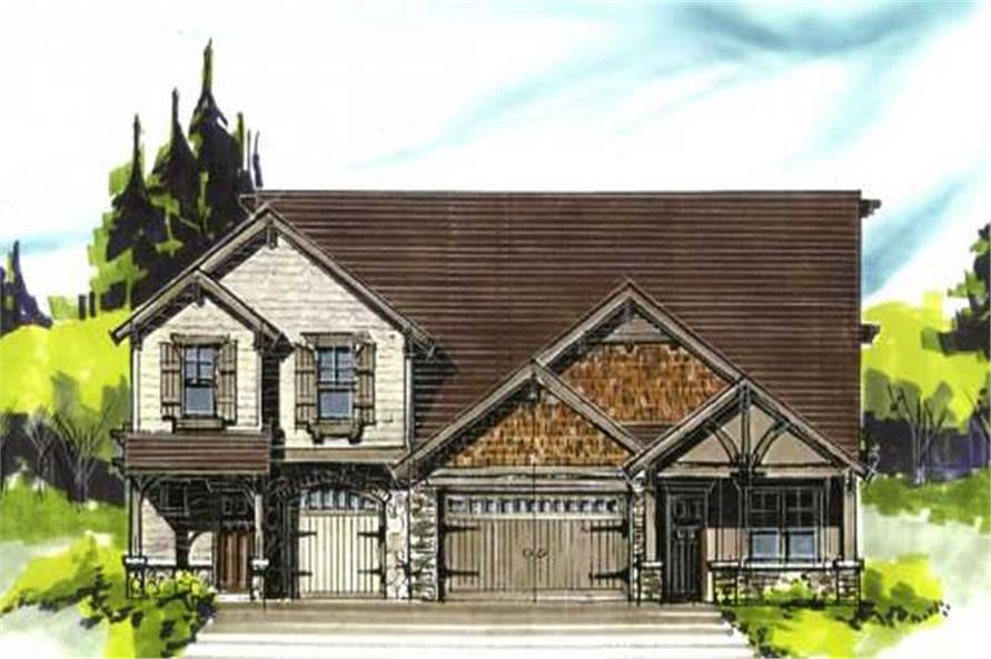 3-Bedroom, 1576 Sq Ft Country House Plan - 149-1058 - Front Exterior