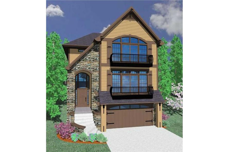 4-Bedroom, 3003 Sq Ft Country House Plan - 149-1059 - Front Exterior