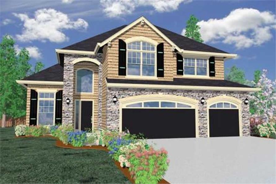 4-Bedroom, 4413 Sq Ft Craftsman House Plan - 149-1061 - Front Exterior