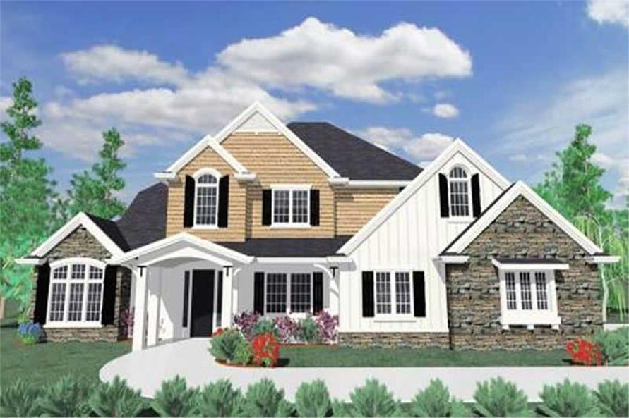 4-Bedroom, 3310 Sq Ft Country House Plan - 149-1064 - Front Exterior