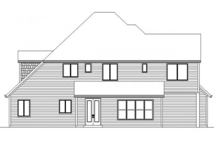 Home Plan Rear Elevation of this 4-Bedroom,3310 Sq Ft Plan -149-1064