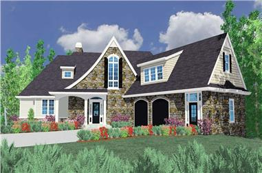 4-Bedroom, 3478 Sq Ft Country House Plan - 149-1066 - Front Exterior