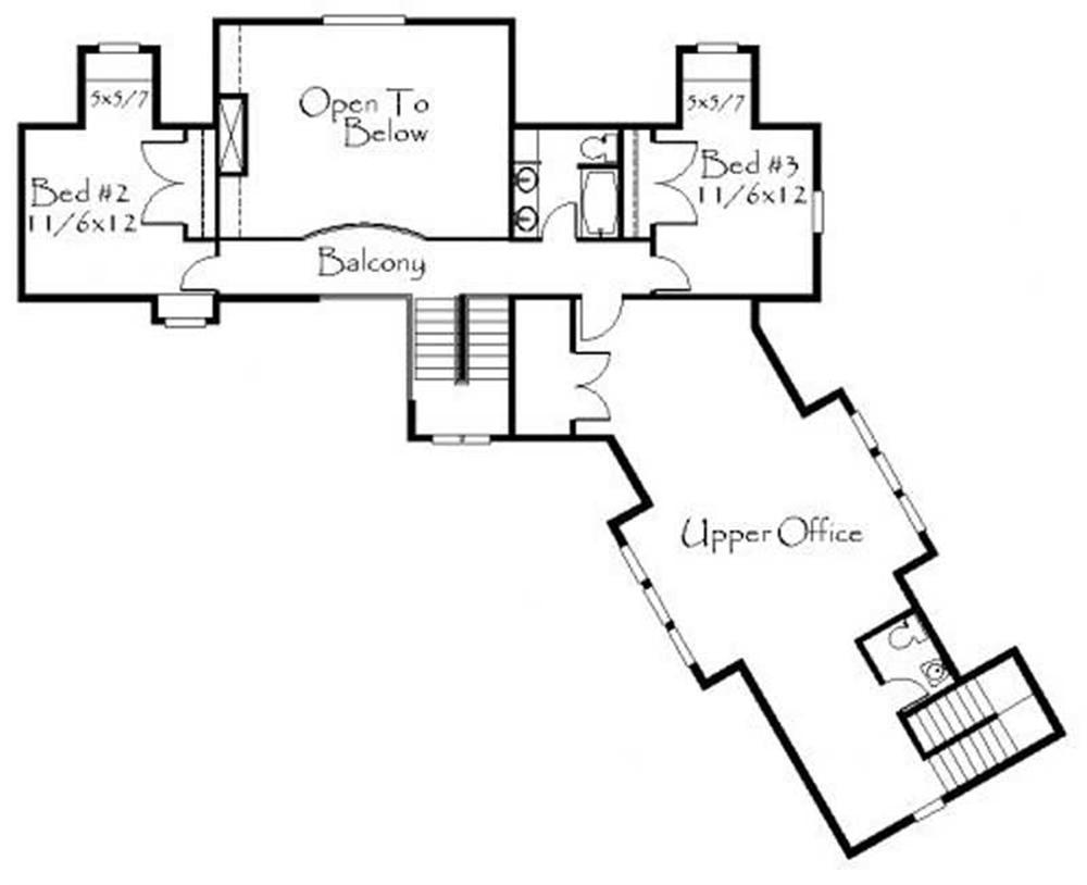 This image shows the upstairs bedrooms.