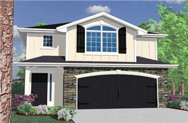 3-Bedroom, 1582 Sq Ft Small House Plans - 149-1070 - Main Exterior