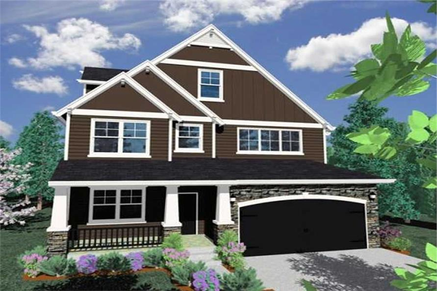 4-Bedroom, 2723 Sq Ft Ranch House Plan - 149-1073 - Front Exterior