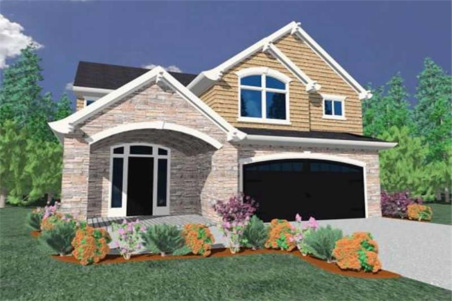 4-Bedroom, 2613 Sq Ft Country Home Plan - 149-1074 - Main Exterior