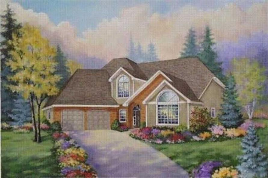 4-Bedroom, 2200 Sq Ft Country House Plan - 149-1075 - Front Exterior