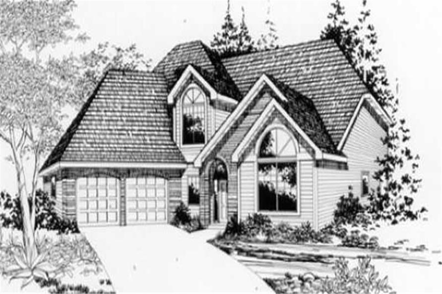 Home Plan Front Elevation of this 4-Bedroom,2200 Sq Ft Plan -149-1075
