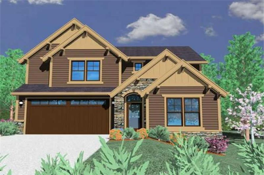 5-Bedroom, 2774 Sq Ft Country House Plan - 149-1080 - Front Exterior