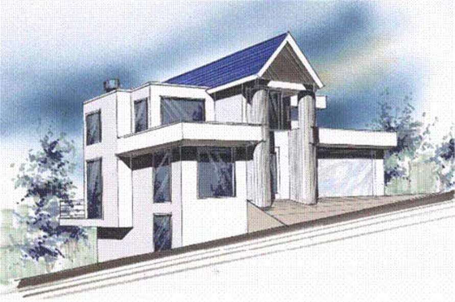 4-Bedroom, 2834 Sq Ft Modern Home Plan - 149-1085 - Main Exterior
