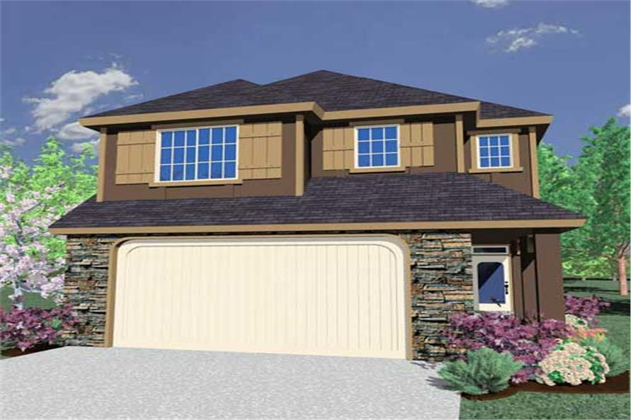 This is a computerized rendering for these Traditional Craftsman Ranch Home Plans.