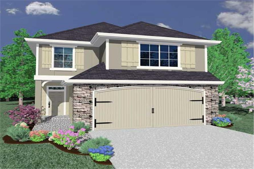 4-Bedroom, 1813 Sq Ft European Home Plan - 149-1093 - Main Exterior