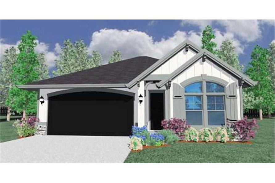 Home Plan Rendering of this 3-Bedroom,1653 Sq Ft Plan -1653