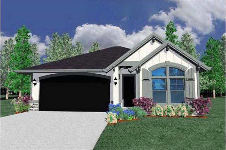 3-Bedroom, 1653 Sq Ft Country House Plan - 149-1098 - Front Exterior