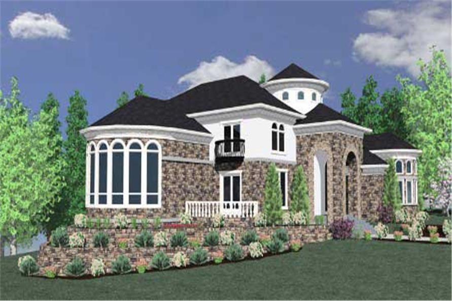 Home Plan 3D Image of this 4-Bedroom,6166 Sq Ft Plan -6166