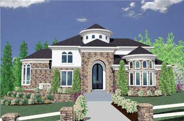 4-Bedroom, 6166 Sq Ft European House Plan - 149-1105 - Front Exterior