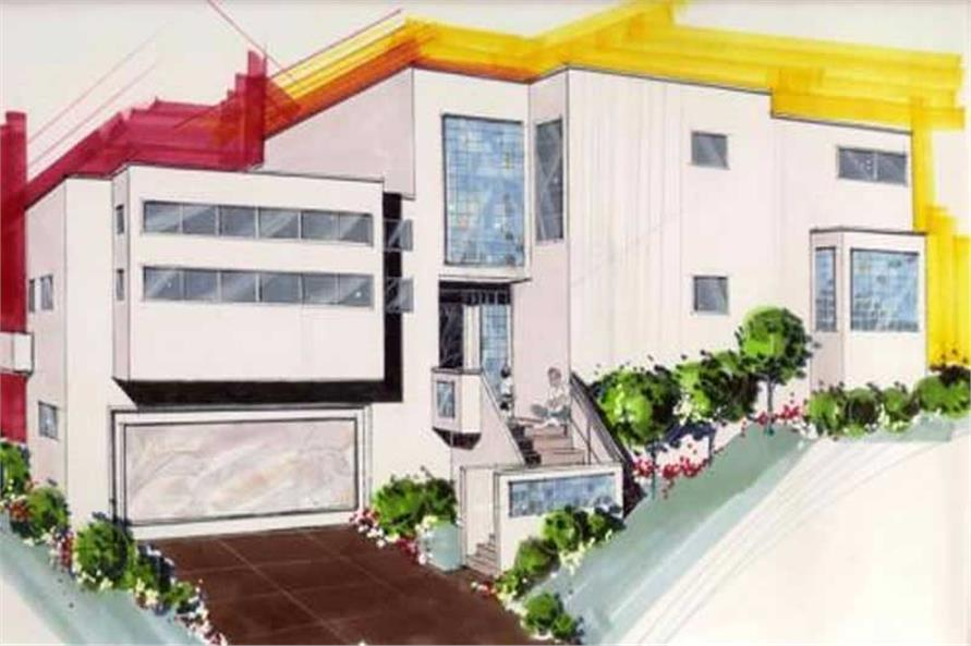3-Bedroom, 2391 Sq Ft Contemporary Home Plan - 149-1111 - Main Exterior