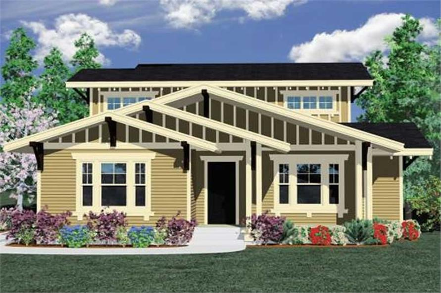 3-Bedroom, 2153 Sq Ft Craftsman Home Plan - 149-1112 - Main Exterior