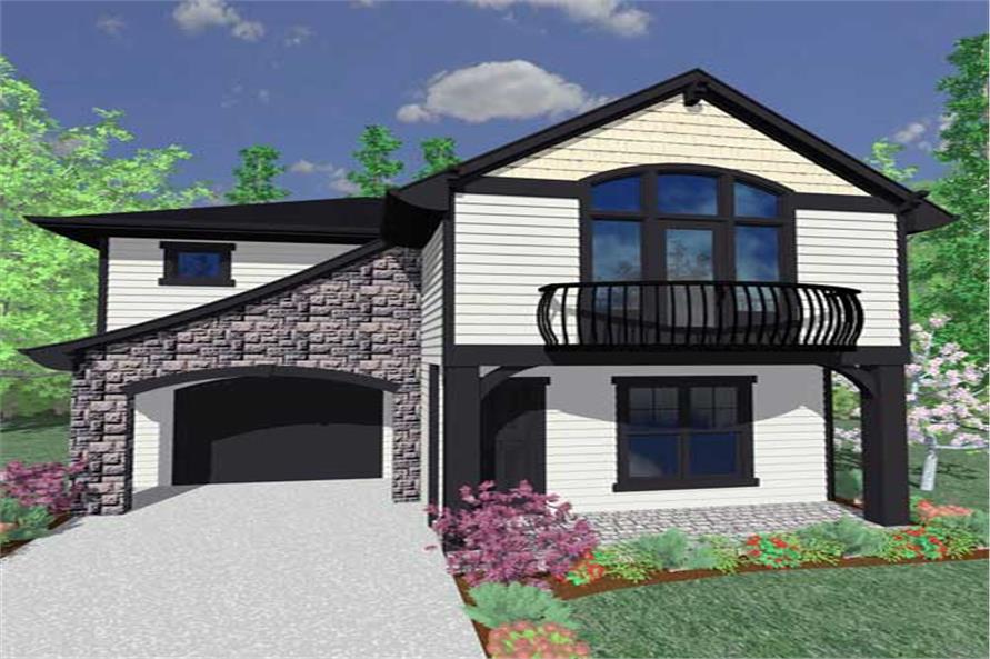 4-Bedroom, 1735 Sq Ft Craftsman House Plan - 149-1115 - Front Exterior