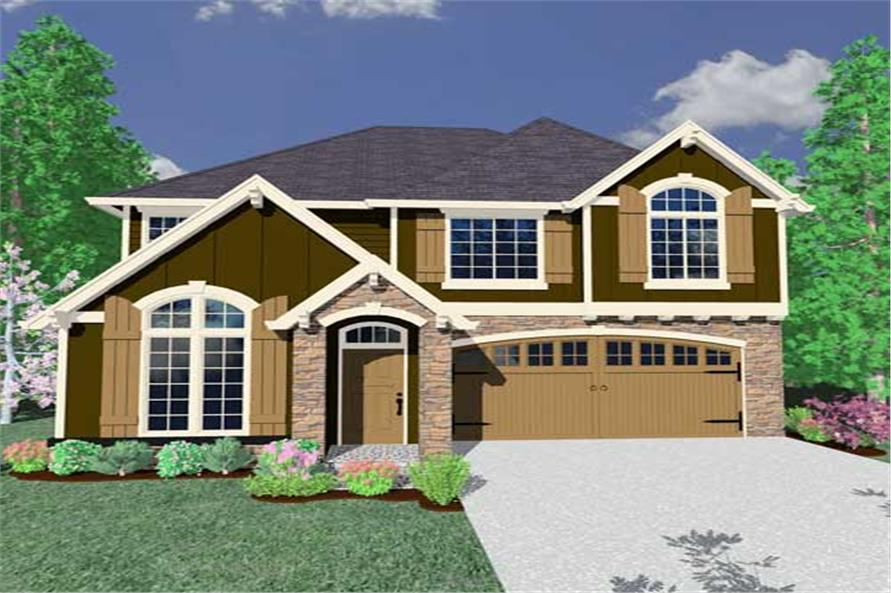 This is a computerized rendering of these European House Plans.