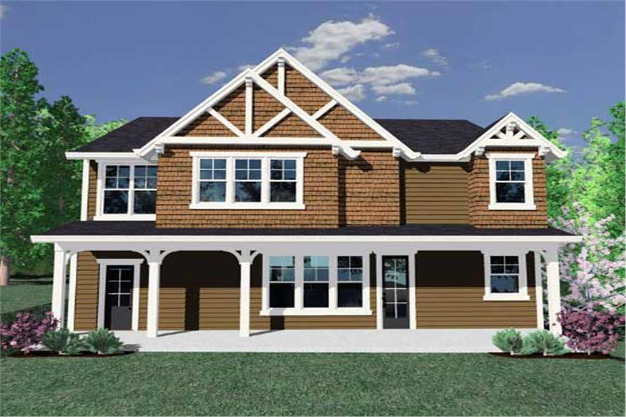Home Plan Rear Elevation of this 4-Bedroom,2449 Sq Ft Plan -149-1117