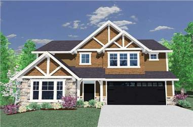 4-Bedroom, 2449 Sq Ft Craftsman Home Plan - 149-1117 - Main Exterior