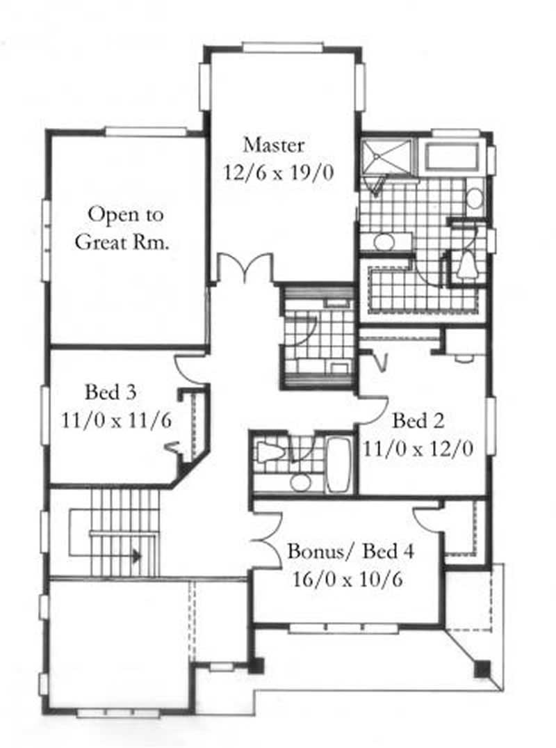 House plan 149 1120 4 bedroom 2505 sq ft country for 1120 westchester place floor plan