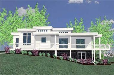3-Bedroom, 2348 Sq Ft Modern Home Plan - 149-1122 - Main Exterior