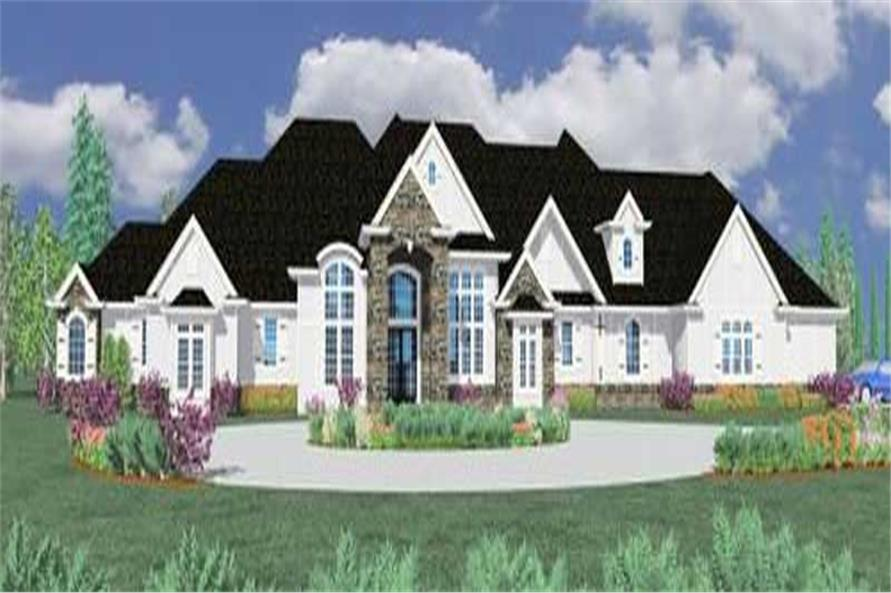 5-Bedroom, 5329 Sq Ft Country Home Plan - 149-1128 - Main Exterior