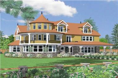 4-Bedroom, 7337 Sq Ft Country Home Plan - 149-1130 - Main Exterior