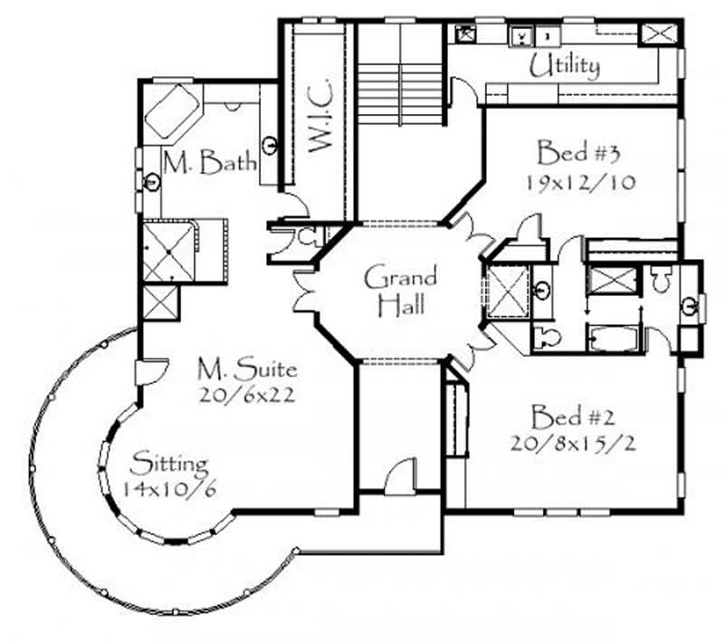 Country house plan 4 bedrms 5 baths 7337 sq ft 149 for Victorian house plans uk