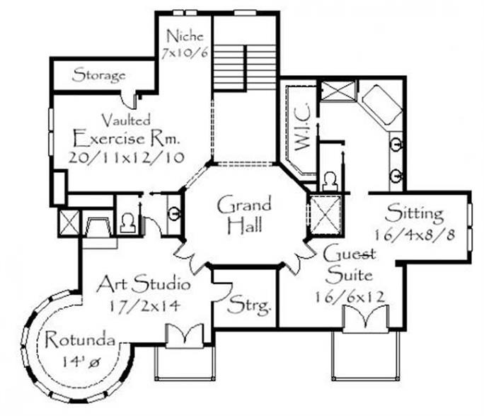 floor plan third story this image shows the guest suite and an art studio