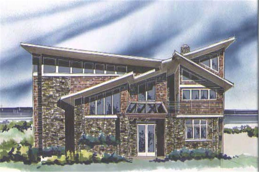 3-Bedroom, 3452 Sq Ft Contemporary Home Plan - 149-1132 - Main Exterior