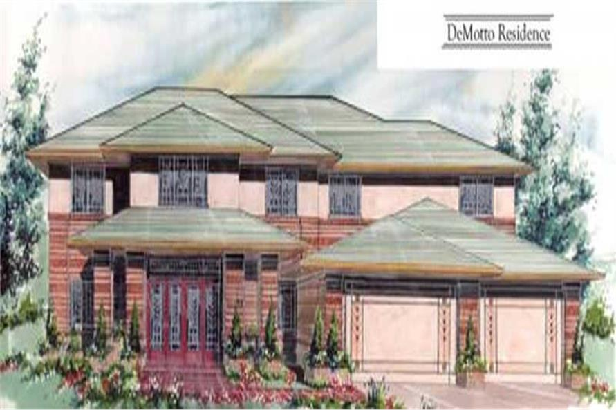 3-Bedroom, 5304 Sq Ft Contemporary Home Plan - 149-1133 - Main Exterior