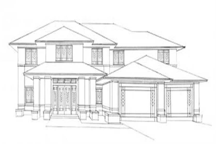 Home Plan Front Elevation of this 3-Bedroom,5304 Sq Ft Plan -149-1133