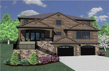 4-Bedroom, 4380 Sq Ft Craftsman Home Plan - 149-1136 - Main Exterior