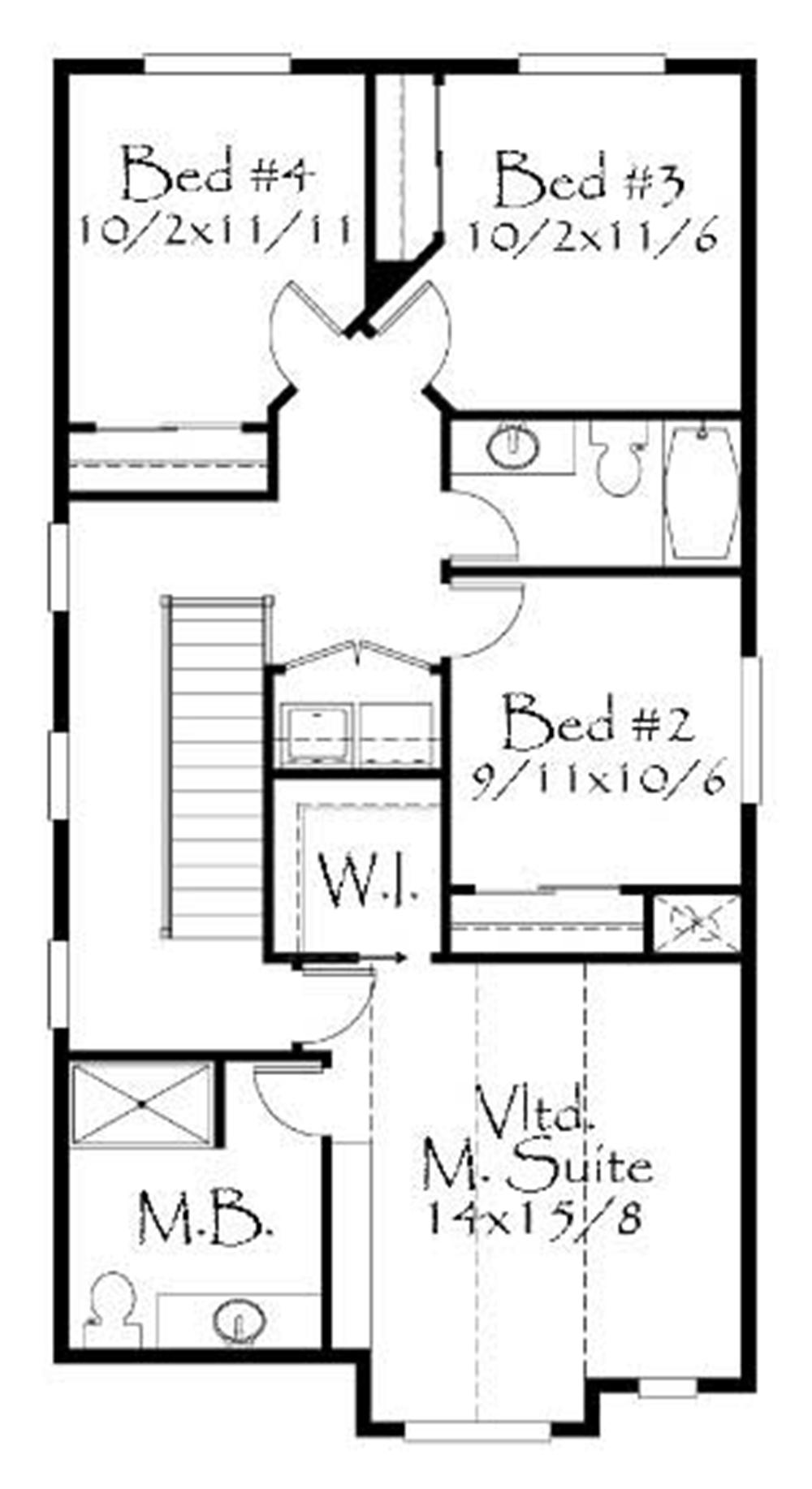 Large images for house plan 149 1140 for 2nd story floor plans