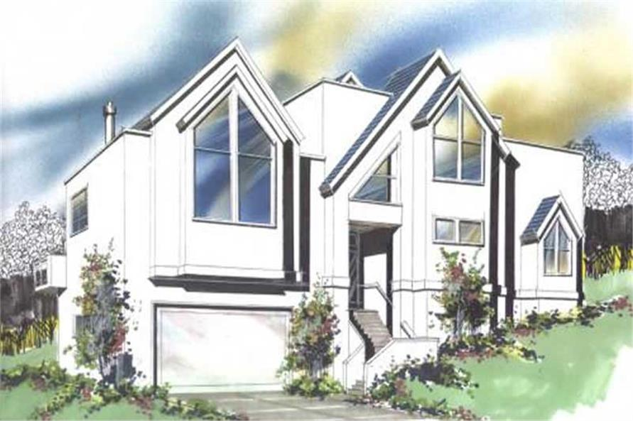 3-Bedroom, 2479 Sq Ft Contemporary Home Plan - 149-1141 - Main Exterior