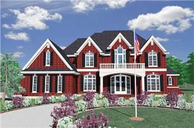 4-Bedroom, 5967 Sq Ft Country Home Plan - 149-1142 - Main Exterior