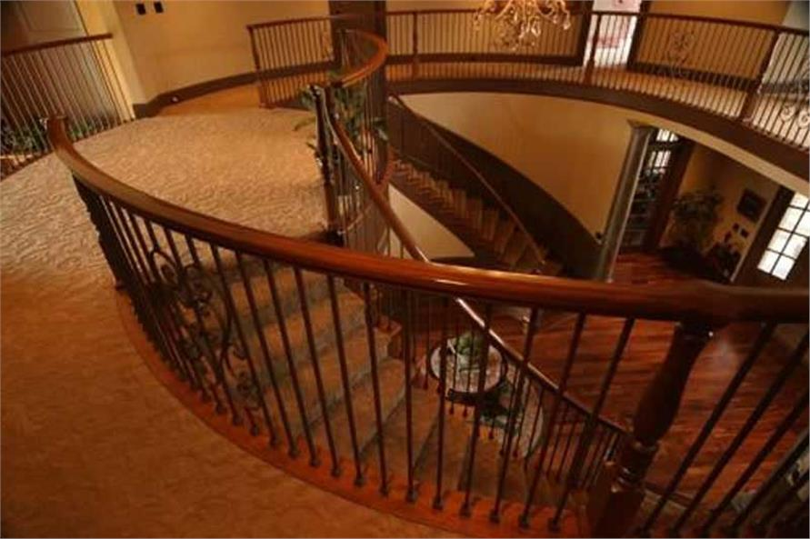 This image shows down the beautiful staircase.