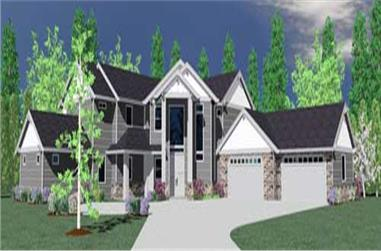 4-Bedroom, 4635 Sq Ft Country House Plan - 149-1143 - Front Exterior
