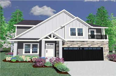 3-Bedroom, 2377 Sq Ft Country House Plan - 149-1144 - Front Exterior